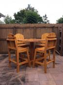 Click to enlarge image Bistro Style Dining Set - Garden Table & Chairs - Outdoor dining furniture
