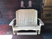 Click to enlarge image Our traditional Adirondack style glider is available in 4', 5', and 6' lengths. - Adirondack Glider - Remember the good old days on Gramma's front porch?