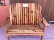 Click to enlarge image Memorial Garden style Loveseat - Memorial Bench - To Honor, Remember or Celebrate