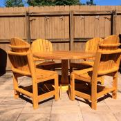 Click to enlarge image Traditional Dining Set-But-Look Ma!! No Arms!! - Garden Style Furniture - Less Rustic-More Defined-Same Great Quality